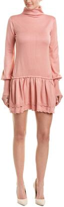 Keer Qiaowa Wool-Blend Drop-Waist Dress