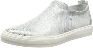 CAFe'NOIR Womens EF Unlined Slippers Silver Size: 4