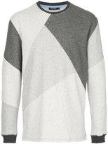 GUILD PRIME geometric panelled sweatshirt