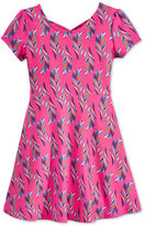 Epic Threads Feather-Print Skater Dress, Toddler Girls (2T-4T) & Little Girls (2-6X), Only at Macy's