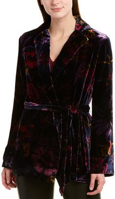 Trina Turk Printed Silk-Blend Jacket