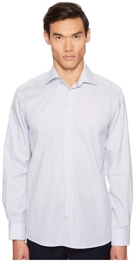 Eton Contemporary Fit Textured Stripe Shirt Men's Clothing