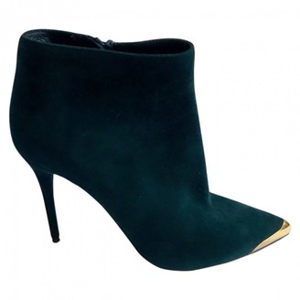Alexander McQueen Green Suede Ankle boots