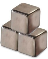 Stainless Steel Ice Cube Drink Chillers (Set of 4)
