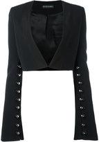David Koma studded bolero blazer - women - Spandex/Elastane/Acetate/Viscose - 8