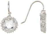 Suzanne Kalan 14K White Gold Circle Topaz & Sapphire Earrings