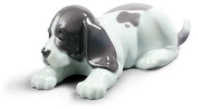 Lladro Sleepy Puppy Figurine