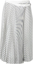 Sacai pleated wrap skirt - women - Cupro - II