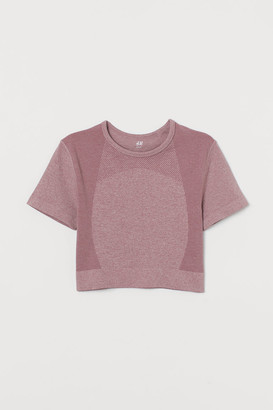 H&M Cropped seamless sports top