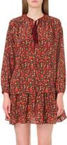 The Kooples Floral-print silk top