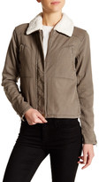 Michael Stars Aviator Faux Shearling Collar Jacket