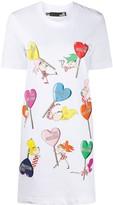Love Moschino logo heart T-shirt dress
