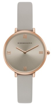 BCBGMAXAZRIA Ladies Grey Strap Watch with Grey Dial, 34mm