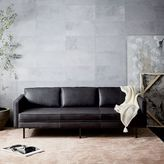 "west elm Axel Leather Sofa (89"")"