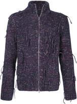 Maison Margiela speckled zip-up cardigan