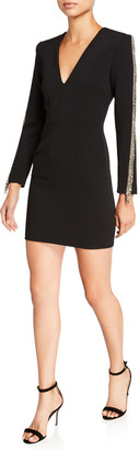 HANEY Beckett V-Neck Long-Sleeve Sheath Dress