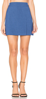 Alice + Olivia Bianka Side Pleat Mini Skirt in Blue
