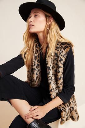 Velvet by Graham & Spencer Stephie Leopard Faux Fur Vest By in Brown Size M