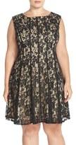 Gabby Skye Lace A-Line Dress (Plus Size)