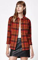 Obey Ruby Lake Plaid Flannel Button-Down Shirt