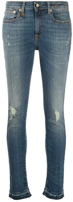 R 13 Mid Rise Cropped Jeans