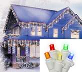 Sienna 25244676 Multicolored LED Wide Angle Icicle Christmas Lights with White Wire, Set of 70
