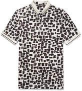 Dolce & Gabbana Slim-Fit Printed Cotton-Piqué Polo Shirt