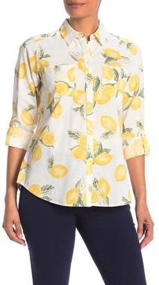 Foxcroft Zoey Lemon Print Shirt