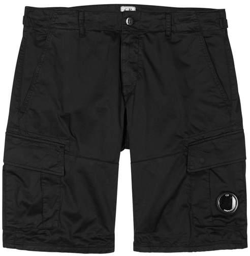 C.P. Company Black Stretch Cotton Cargo Shorts