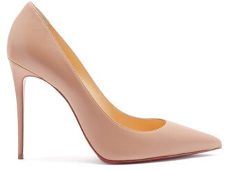Christian Louboutin Kate 100 Leather Pumps - Nude