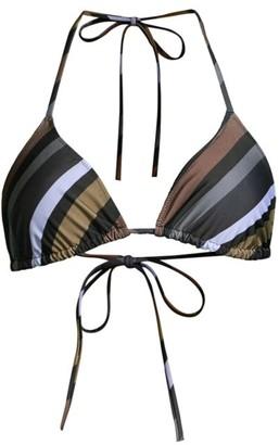 Ganni Striped String Bikini Top