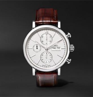 IWC SCHAFFHAUSEN Portofino Chronograph 42mm Stainless Steel And Alligator Watch, Ref. No. Iw391007