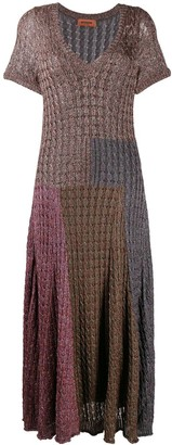 Missoni Patchwork Textured-Knit Dress