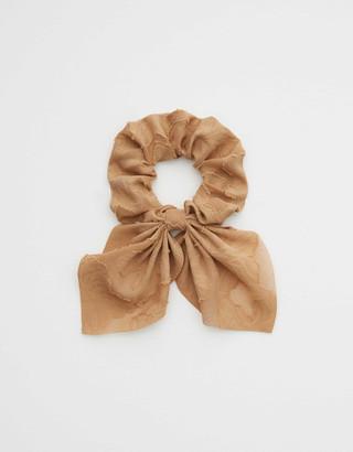 aerie Chiffon Floral Bow Scrunchie