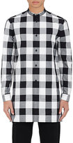 Helmut Lang Men's Checked Cotton Tunic Shirt