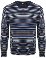 PS By Paul Smith Crew Neck Stripe Jumper Blue