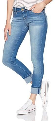 YMI Jeanswear Women's Wannabettabutt Low Rise Mega Cuff Anklet Skinny Jean
