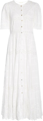 LoveShackFancy Rosita Broderie Anglaise Cotton-Voile Maxi Dress