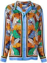 Emilio Pucci leafs print shirt - women - Silk - 44