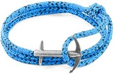 Anchor & Crew Blue Noir Admiral Anchor Rope & Silver Bracelet