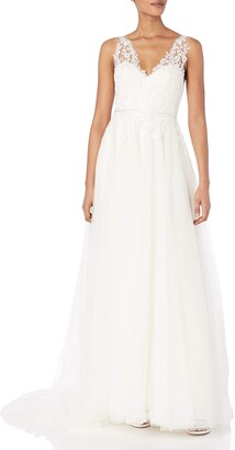 Jenny Yoo Women's Isla Lace and Tulle Wedding Gown