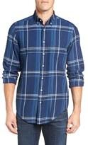 Gant Men's Slim Fit Indigo Plaid Woven Sport Shirt