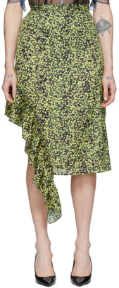 Rokh Yellow Frill Utility Skirt