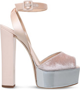 Giuseppe Zanotti Betty platform leather and velvet sandals