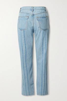 STILL HERE Shibori Tate Cropped High-rise Straight-leg Jeans - Light denim