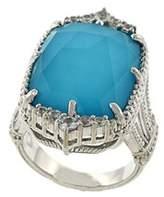 Judith Ripka Chantilly Silver 17.54 Ct. Tw. Sapphire & Gemstone Doublet Ring.
