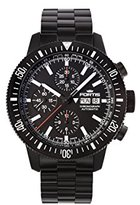 Fortis Men's 638.18.31 MPVD Monolith Chronograph Analog Display Automatic Self Wind Black Watch