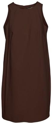 Conquista Brown Cotton Sack Dress