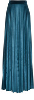 Luisa Beccaria Stretch Velvet Pleated Pants