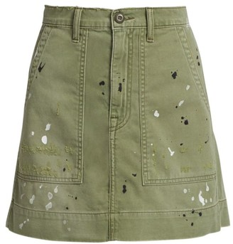 NSF Goldie Painted Mini Skirt